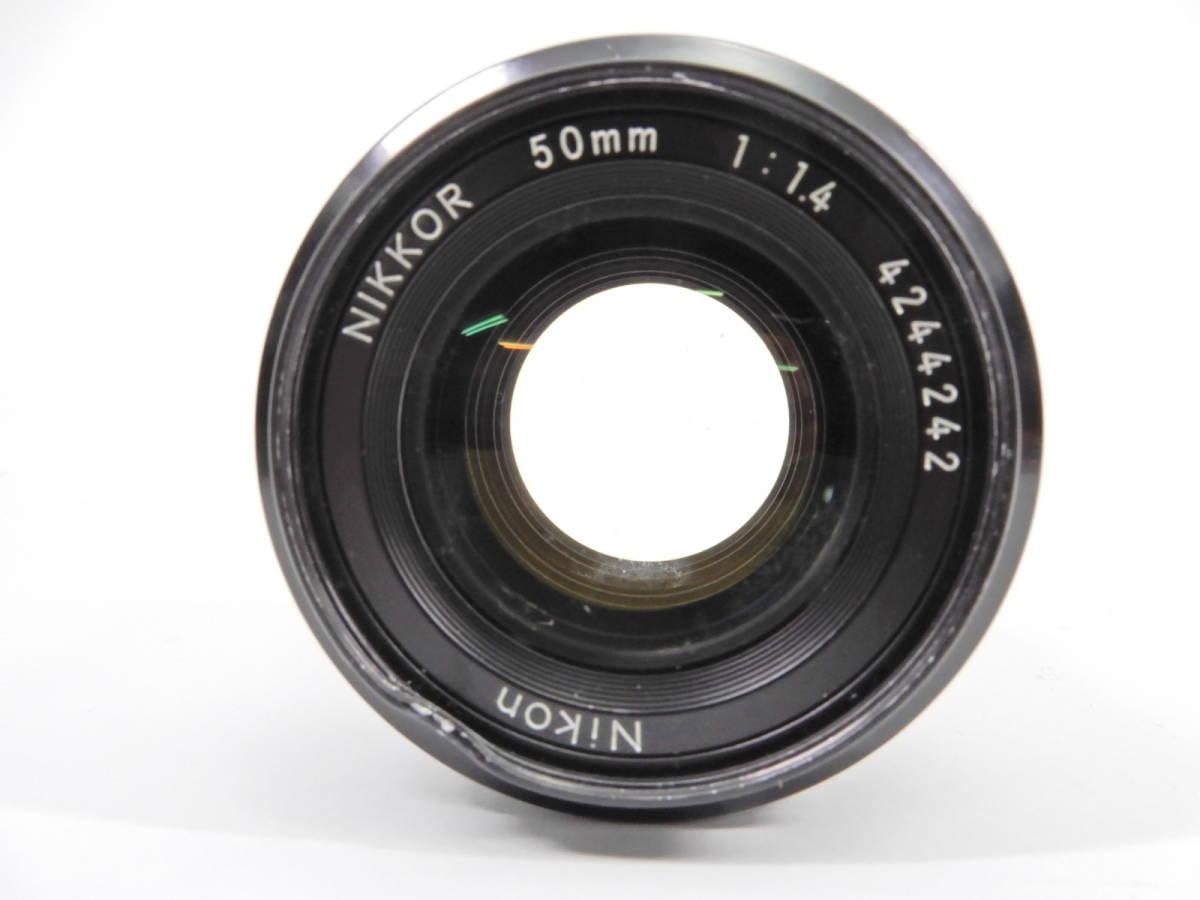 Nikon ニコン F2 ブラック NIKKOR 50mm 1:1.4 一眼レフ カメラ レンズ 付き シャッター確認済_画像8