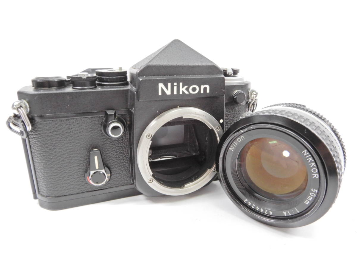 Nikon ニコン F2 ブラック NIKKOR 50mm 1:1.4 一眼レフ カメラ レンズ 付き シャッター確認済_画像7