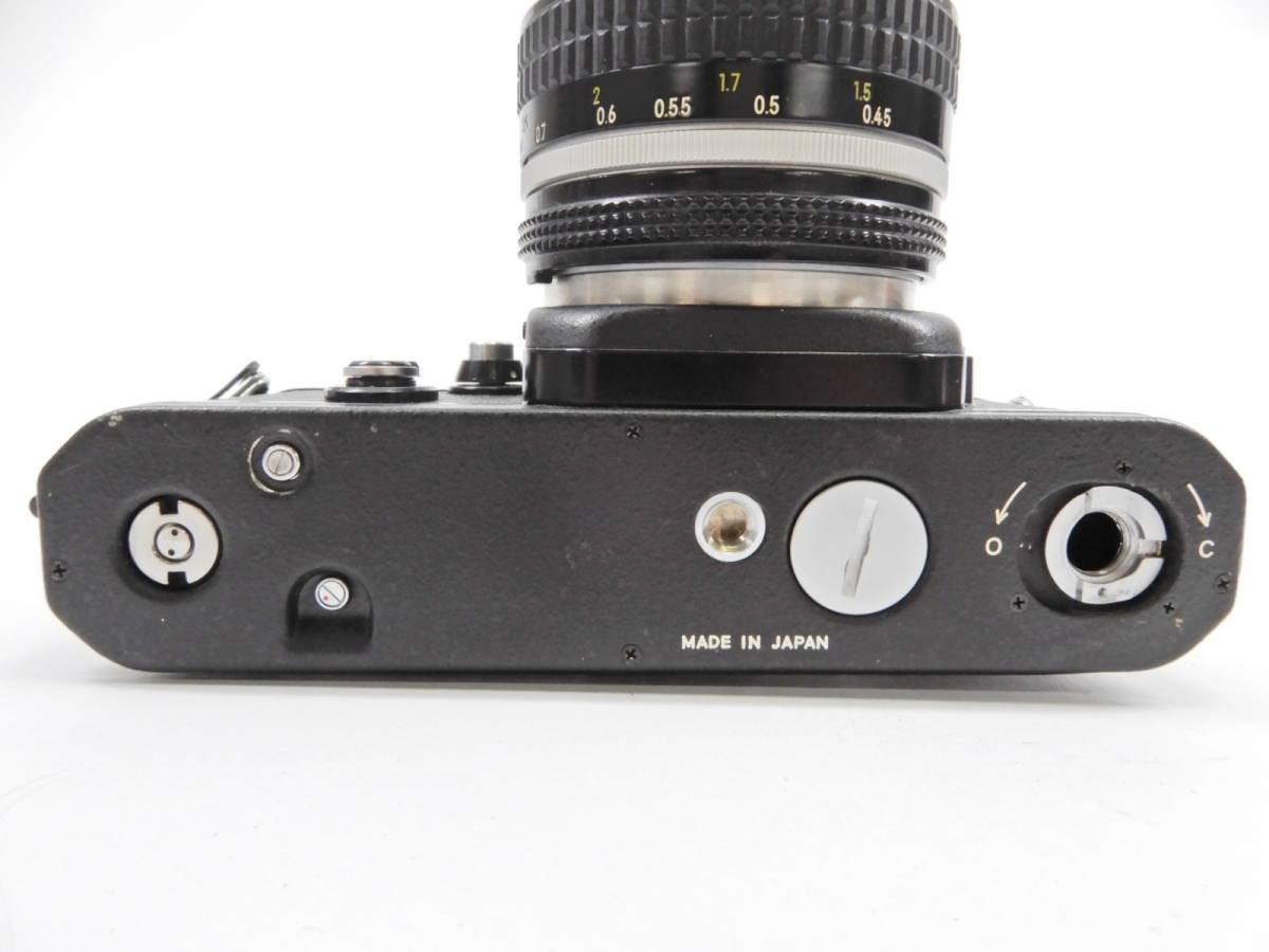 Nikon ニコン F2 ブラック NIKKOR 50mm 1:1.4 一眼レフ カメラ レンズ 付き シャッター確認済_画像5