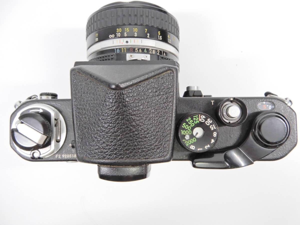 Nikon ニコン F2 ブラック NIKKOR 50mm 1:1.4 一眼レフ カメラ レンズ 付き シャッター確認済_画像2