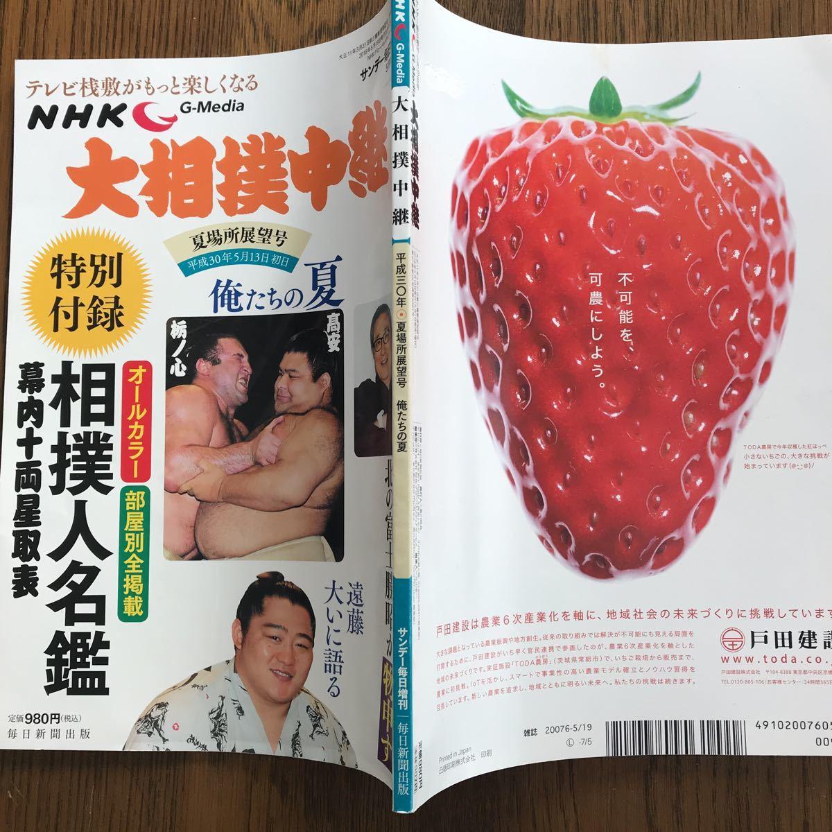 【毎日新聞出版】「G-Media大相撲中継」平成30年5月夏場所展望号_画像2