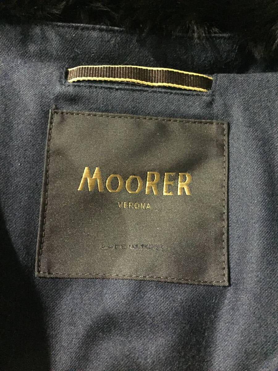 希少 MOORER ムーレー SIRO ウールカシミア モデル ネイビー 42_画像5