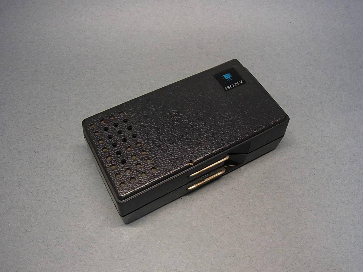◆聚◆ 昭和レトロ ビンテージ SONY ソニーICラジオ・ICR-100 超小型トランジスターラジオ BC-100付属 ジャンク品_画像8
