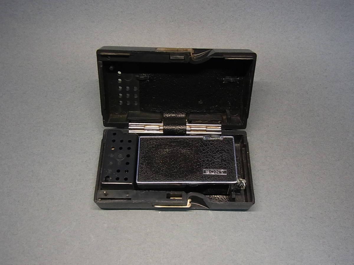 ◆聚◆ 昭和レトロ ビンテージ SONY ソニーICラジオ・ICR-100 超小型トランジスターラジオ BC-100付属 ジャンク品