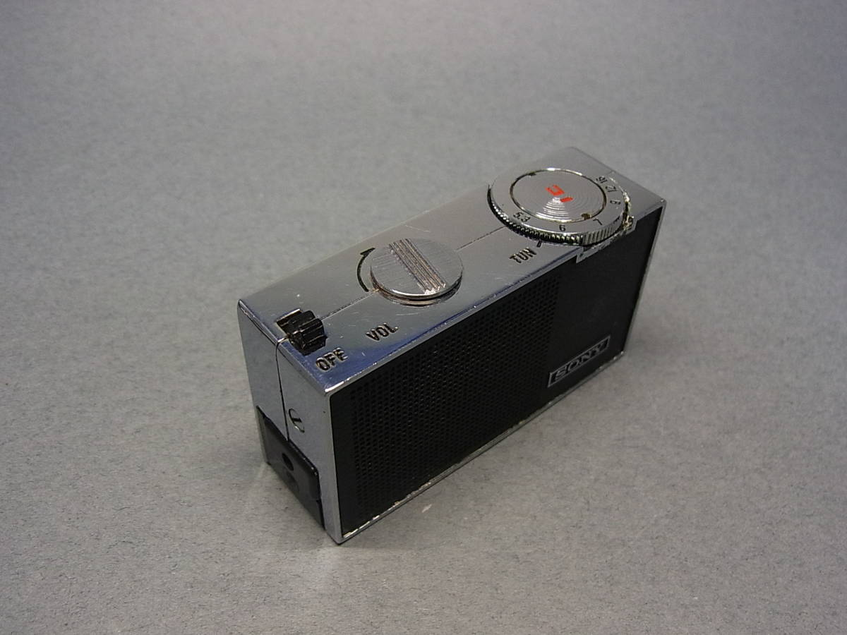 ◆聚◆ 昭和レトロ ビンテージ SONY ソニーICラジオ・ICR-100 超小型トランジスターラジオ BC-100付属 ジャンク品_画像5