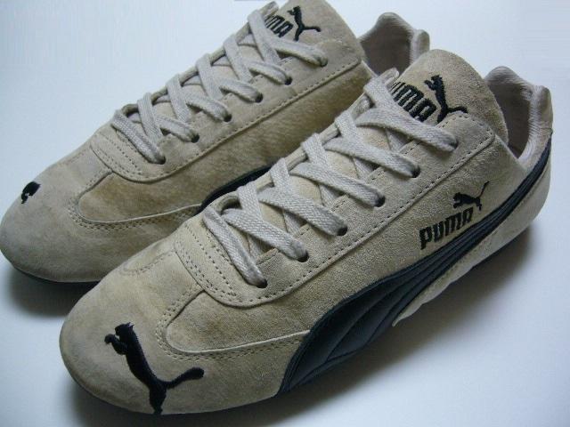 PUMA Puma SPEED CAT Speed cat driving shoes US 7 JPN 25 BEG BLK ... 294235006b5b