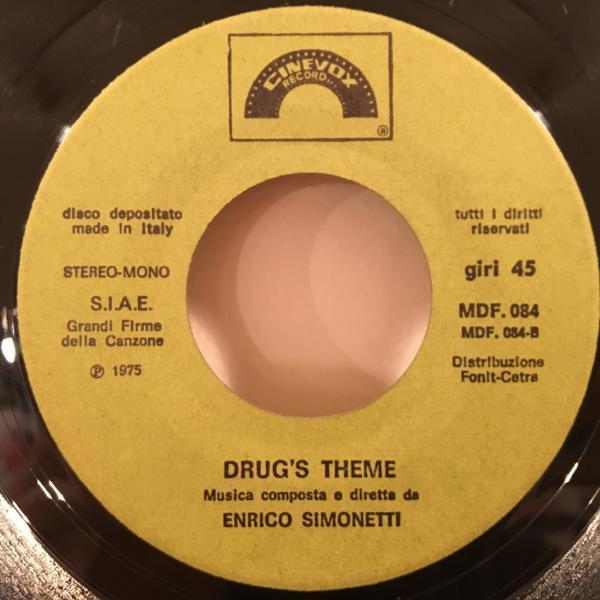 ☆Enrico Simonetti/Drug's Theme☆伊シネマティックFUNK!BREAK!7inch 45_画像2