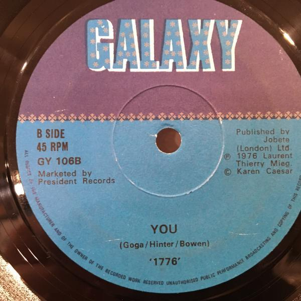 ☆1776/Oh Suzanna - You☆Marvin Gayeブギ・カバー!7inch 45_画像1