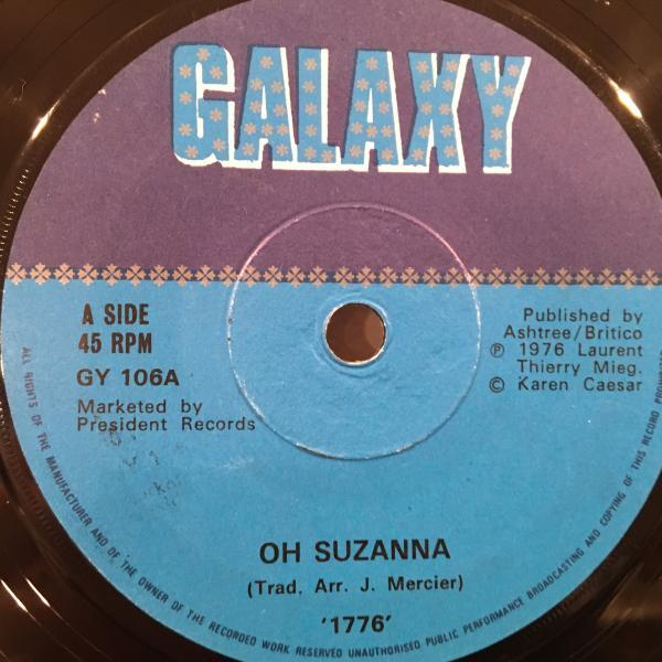 ☆1776/Oh Suzanna - You☆Marvin Gayeブギ・カバー!7inch 45_画像2
