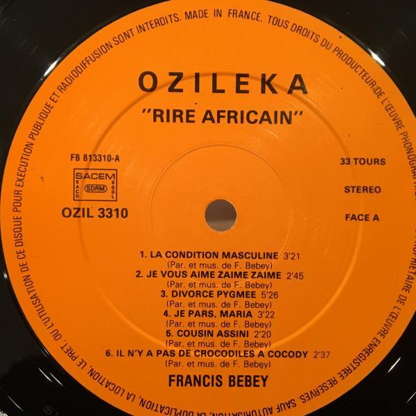 ☆Francis Bebey/Rire Africain☆カメルーン産AFRO ELECTRONICS!_画像2