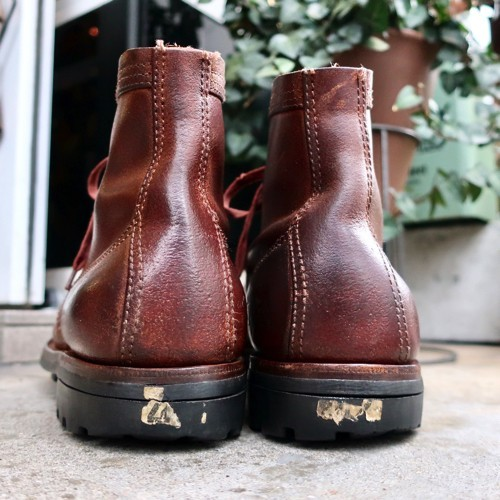 ブヒシューズ ミリタリーブーツ/フランス軍/26cm ヴィンテージ/古靴/ワークブーツ/レザーブーツ/革靴/フレンチアーミー/40s/vintage_ブヒシューズ ミリタリー フランス軍