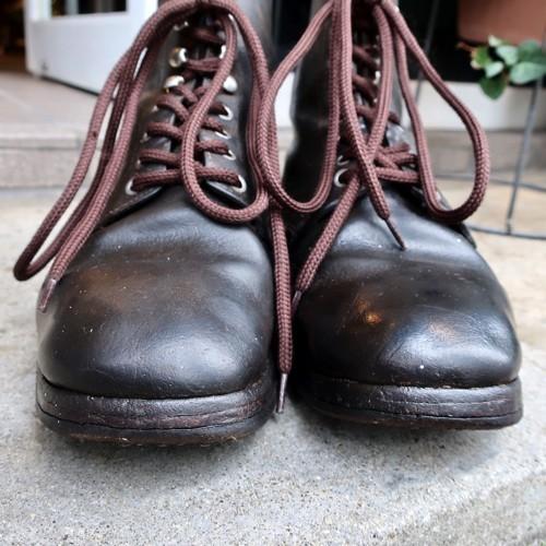 ブヒシューズ ミリタリーブーツ/ドイツ軍/25.5cm ヴィンテージ/古靴/レンジャーブーツ/ワークブーツ/レザーブーツ/革靴/40s/50s/vintage_ブヒシューズ|ミリタリー|ドイツ軍
