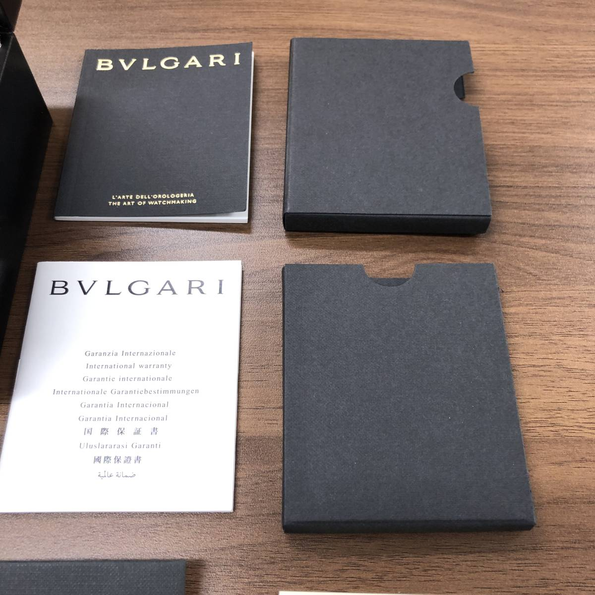 【2459】 BVLGARI ブルガリ 腕時計用ケース 空箱 冊子一式 黒_画像2