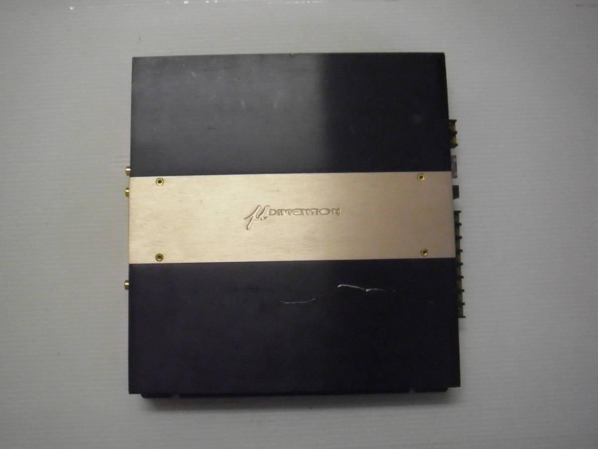 ●μ-Dimension Jr.4-300 4ch 300w パワーアンプ ブリッジ可 ミューディメンション 中古_画像1