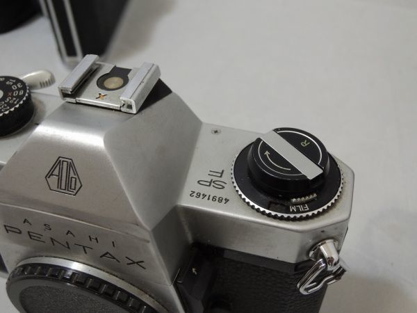 ASAHI PENTAX S2 SPF SP アサヒ ペンタックス 5台まとめ + レンズ オリンパス G.zuiko Asahi opt Auto-Takumar など付属品含む 0110_画像5