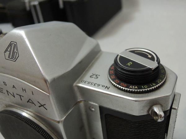 ASAHI PENTAX S2 SPF SP アサヒ ペンタックス 5台まとめ + レンズ オリンパス G.zuiko Asahi opt Auto-Takumar など付属品含む 0110_画像7