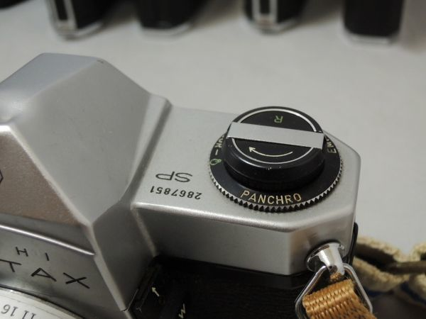 ASAHI PENTAX S2 SPF SP アサヒ ペンタックス 5台まとめ + レンズ オリンパス G.zuiko Asahi opt Auto-Takumar など付属品含む 0110_画像9