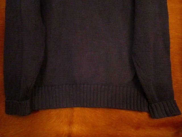 90s ヴィンテージ 日本製 ポロ Polo ラルフローレン Ralph Lauren 紺 綿 コットン クルーネック セーター LL_画像4