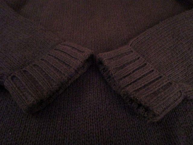 90s ヴィンテージ 日本製 ポロ Polo ラルフローレン Ralph Lauren 紺 綿 コットン クルーネック セーター LL_画像8
