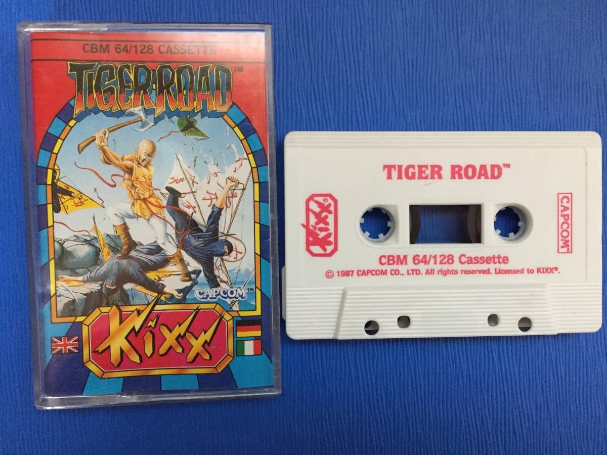 コモドール64 虎への道 カプコン Tiger Road カセットテープ アクション レトロゲーム_画像1