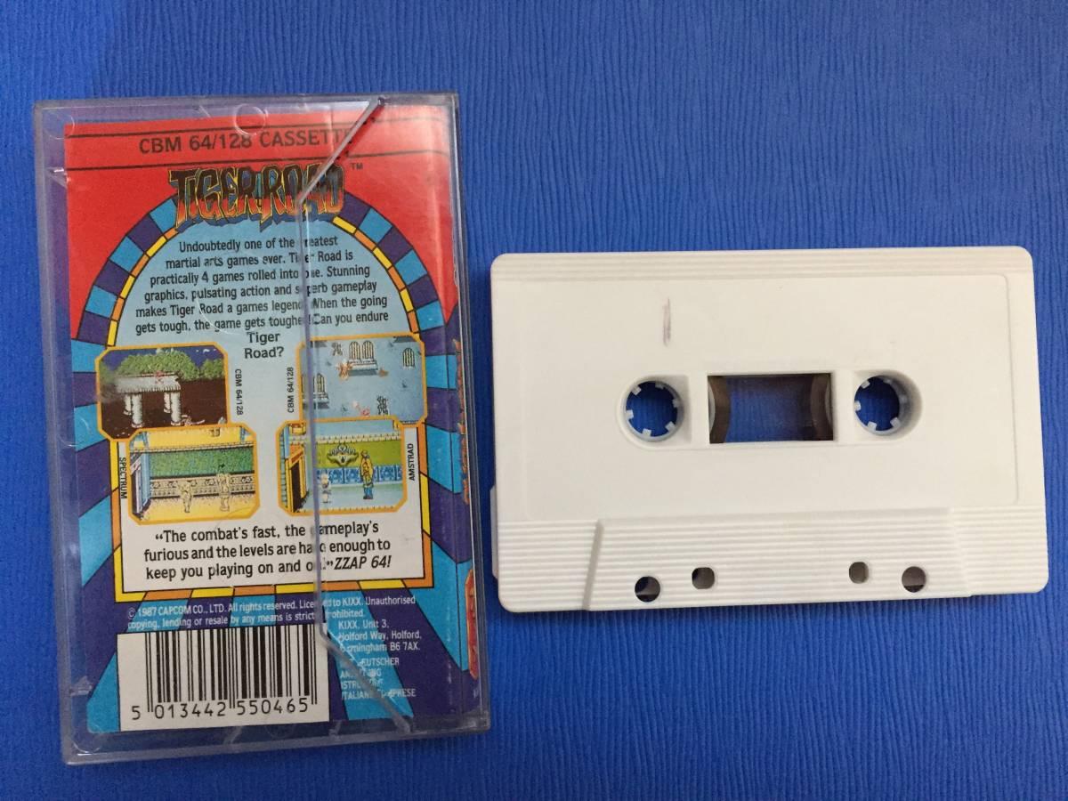 コモドール64 虎への道 カプコン Tiger Road カセットテープ アクション レトロゲーム_画像2