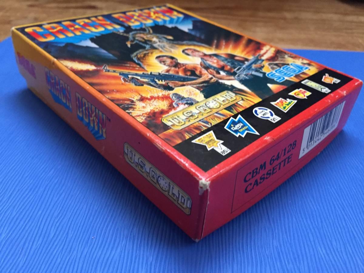 コモドール クラックダウン Crack Down セガ カセットテープ 箱説付き レトロゲーム アクション PCゲーム_画像8