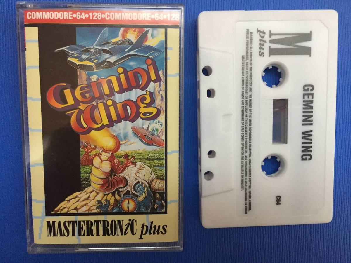 コモドール 64/128 ジェミニウイング Gemini Wing テクモ カセットテープ ゲームソフト 1987年頃のレトロゲーム シューティング_画像1