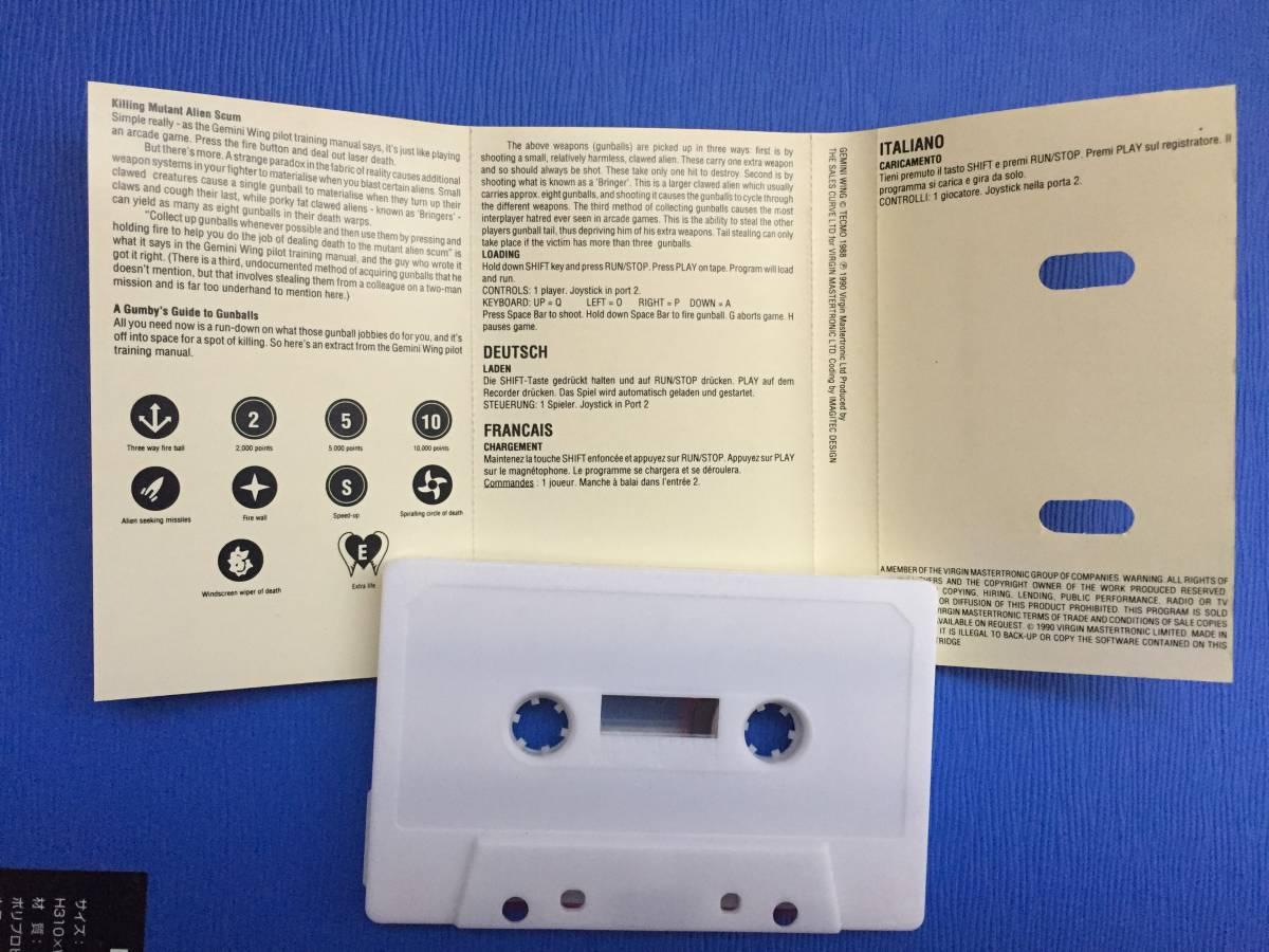 コモドール 64/128 ジェミニウイング Gemini Wing テクモ カセットテープ ゲームソフト 1987年頃のレトロゲーム シューティング_画像6