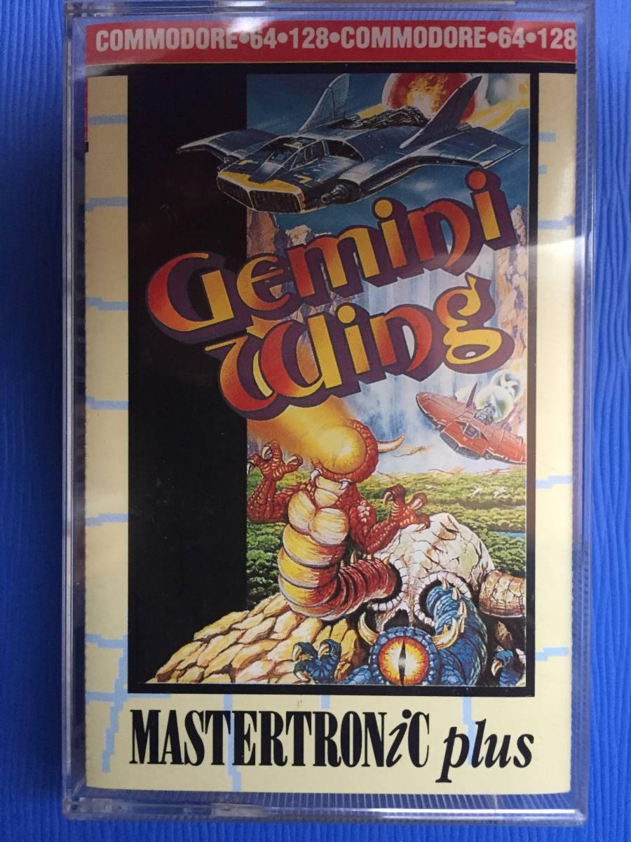 コモドール 64/128 ジェミニウイング Gemini Wing テクモ カセットテープ ゲームソフト 1987年頃のレトロゲーム シューティング_画像4