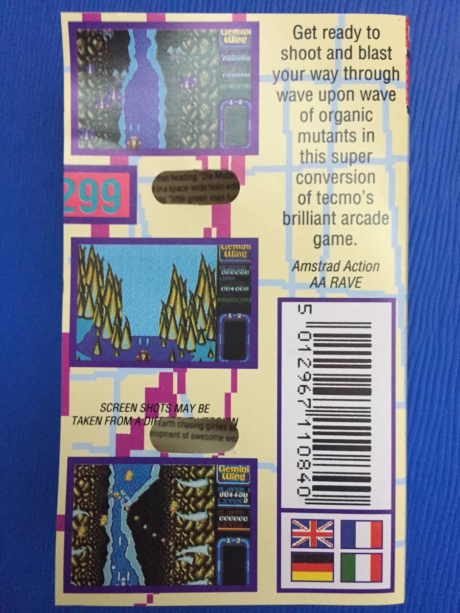 コモドール 64/128 ジェミニウイング Gemini Wing テクモ カセットテープ ゲームソフト 1987年頃のレトロゲーム シューティング_画像5