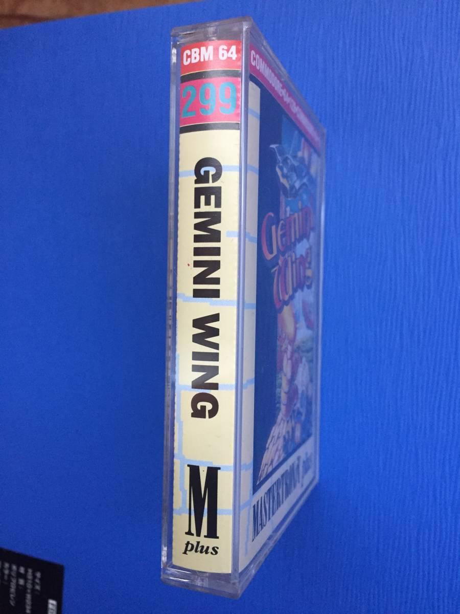 コモドール 64/128 ジェミニウイング Gemini Wing テクモ カセットテープ ゲームソフト 1987年頃のレトロゲーム シューティング_画像7