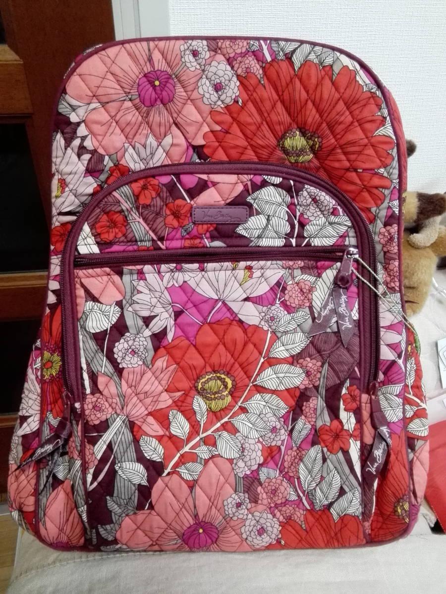 送込 レア! Vera Bradley Bohemian Blooms campus tech backpack ヴェラブラッドリー バックパック 新品タグ付 廃盤柄