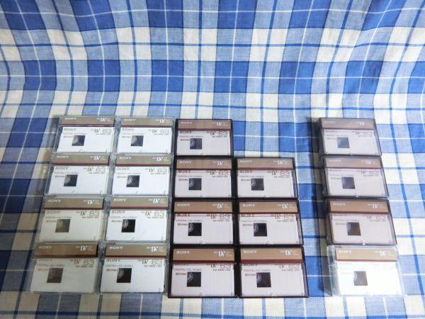 MiniDV SONY DVM63HD 未開封 4本 使用済みJUNK品15本 合計19本_画像1