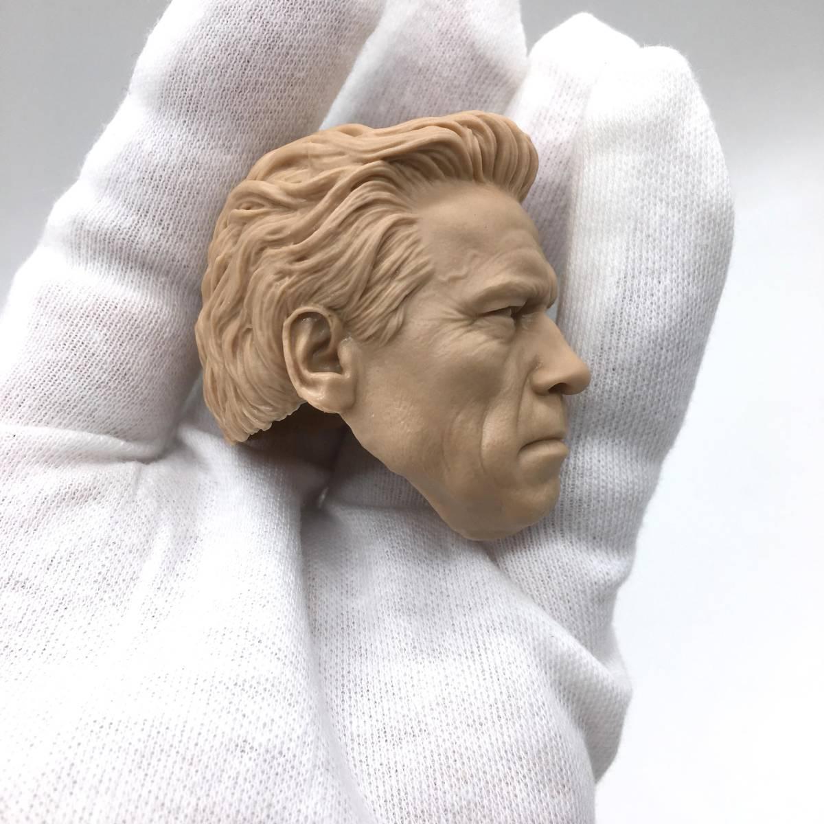 送料無料 1/6 DIY ヘッド 手作り 未塗装男性ヘッド アーノルド・シュワルツェネッガー -a 番号B35_画像2