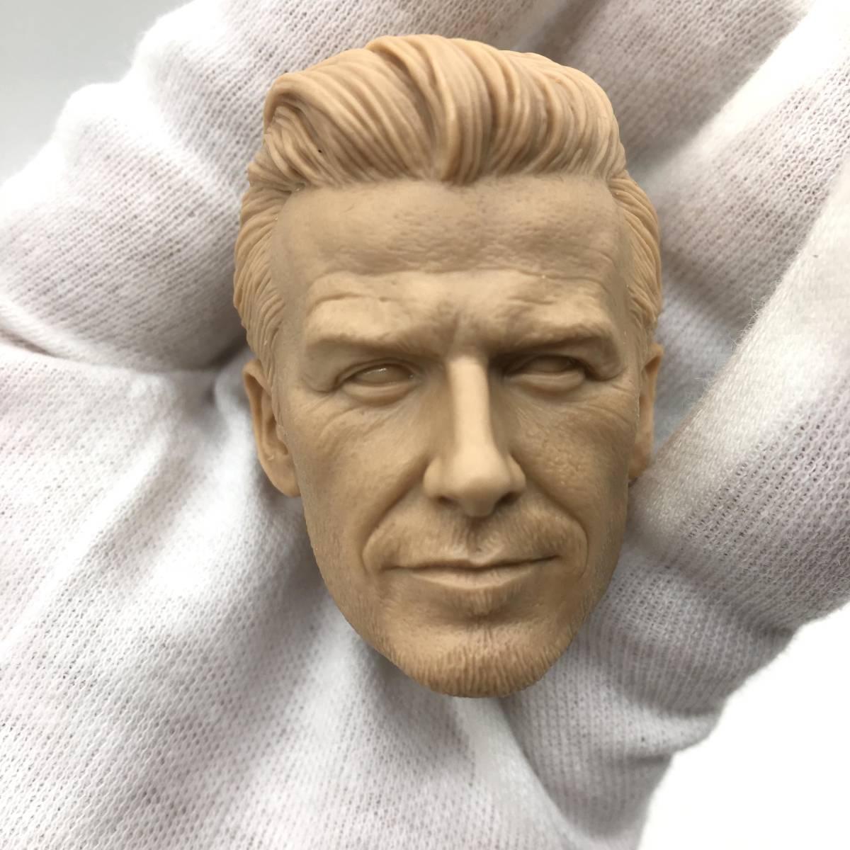 送料無料 1/6 DIY ヘッド 手作り 未塗装男性ヘッド デビッド・ベッカム 番号B32_画像1