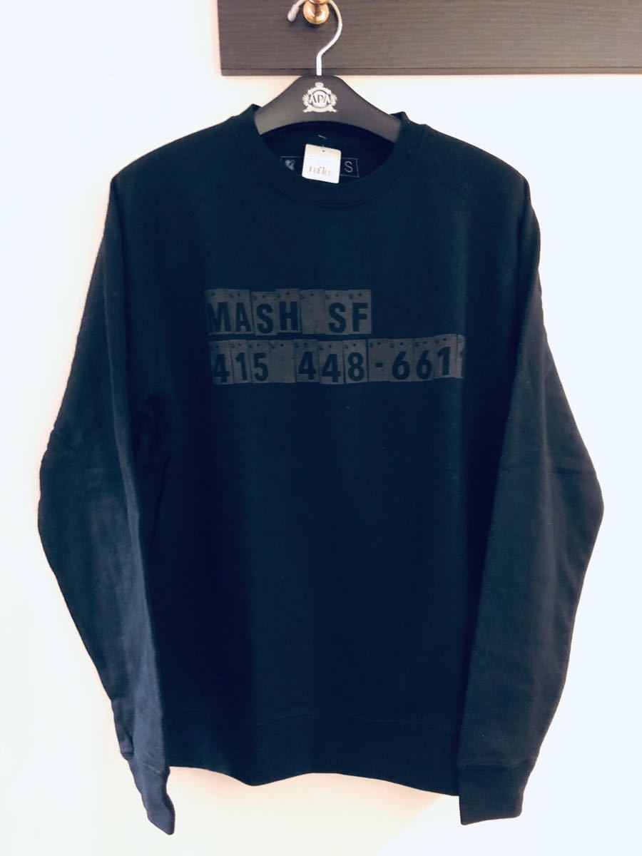 MASH reflective crew neck sweat マッシュ スウェット ピスト ロード LEADER BIKE Cinelli リーダー バイク blue lug brotures swrve_画像4