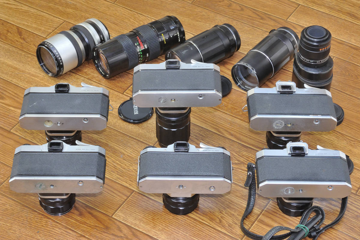 ジャンク品 PENTAX SP・SVボディ6台 ペンタックス用レンズ10本他まとめて_画像8