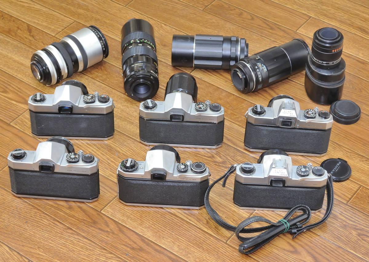 ジャンク品 PENTAX SP・SVボディ6台 ペンタックス用レンズ10本他まとめて_画像5