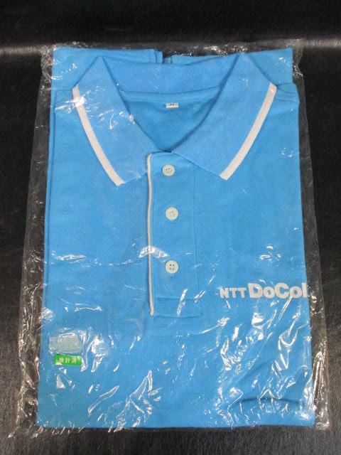 ◆ドコモショップ ポロシャツ◆Mサイズ 水色 NTT docomo 未使用品? 制服 ユニフォーム コスチューム スタッフ 非売品♪2f-50110