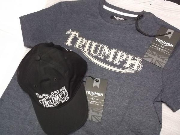 トライアンフ TRIUMPH ヴィンテージTシャツ キャップセット グッズ //ボンネビル スクランブラー デイトナ_画像2