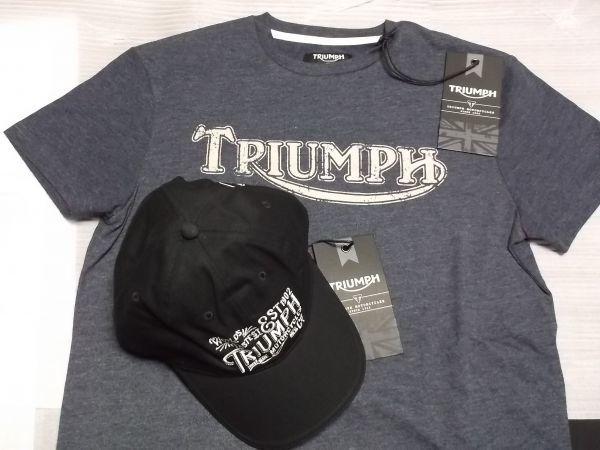 トライアンフ TRIUMPH ヴィンテージTシャツ キャップセット グッズ //ボンネビル スクランブラー デイトナ