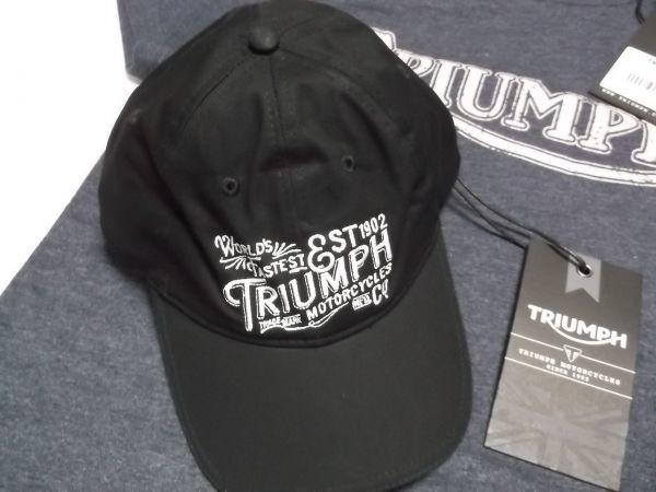 トライアンフ TRIUMPH ヴィンテージTシャツ キャップセット グッズ //ボンネビル スクランブラー デイトナ_画像5