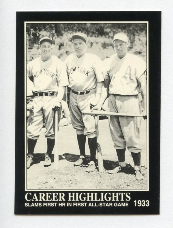 [MLBカード] BABE RUTH LOU GEHRIG JIMMIE FOXX 1992 Megacards #89 HOF ベーブ・ルース_画像1