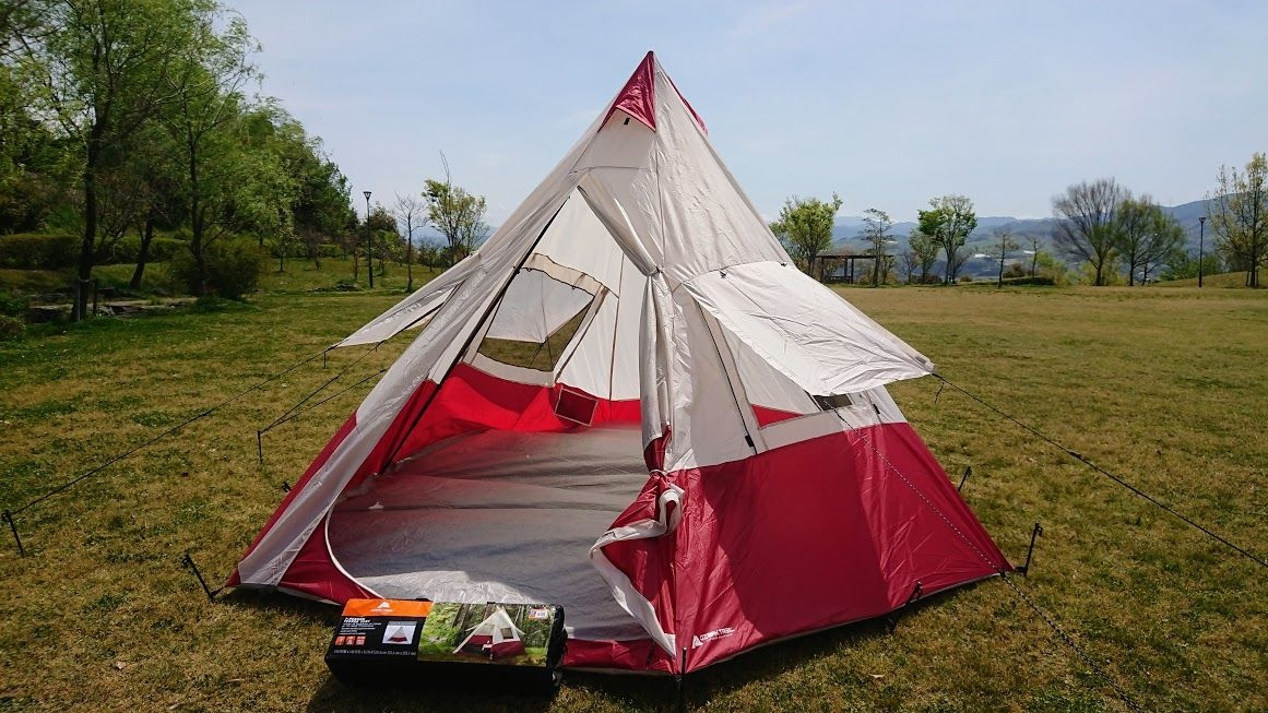 pretty nice a0e79 1ab26 ozark trail 7person teepee tent 4~7 person for tipi- tent ...