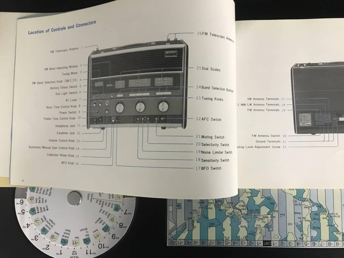 SONY 23BAND ラジオ WORLD ZONE CRF-230B 付属品あり 現状品_画像5