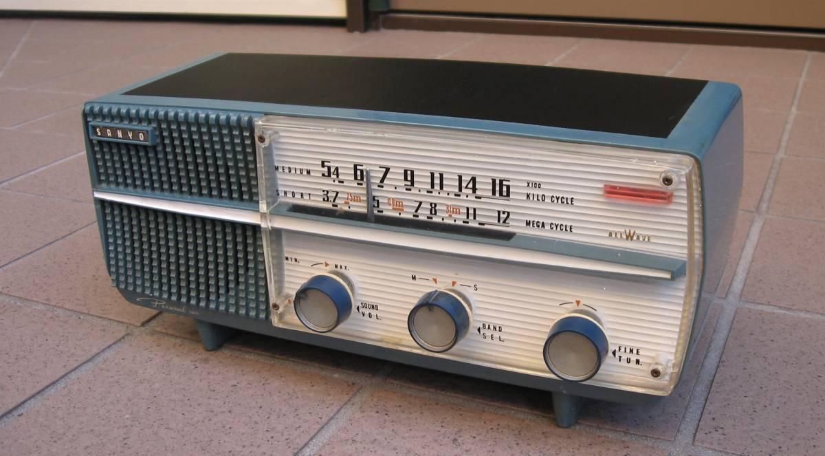 SANYO vacuum tube radio SF-22 external input equipped