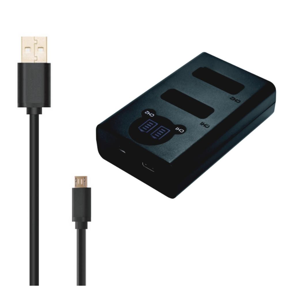 新品 パナソニック DMW-BLC12 用 USB 急速 デュアル 互換充電器 バッテリーチャージャー [ DMW-BTC6 DMW-BTC12 ] LUMIX ルミックス _2個でも同時に充電可能