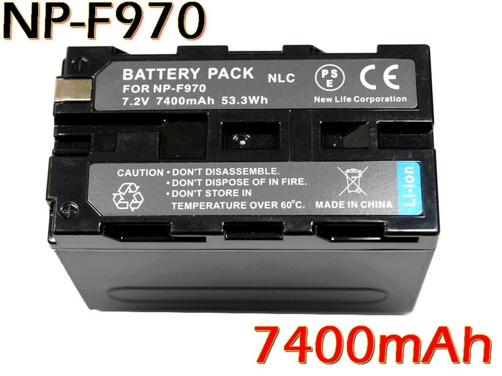 新品 SONY ソニー NP-F950 NP-F960 NP-F970 互換バッテリー 7400mAh 2個 & デュアル USB 急速 互換充電器 バッテリーチャージャー BC-VM10 _残量表示可能