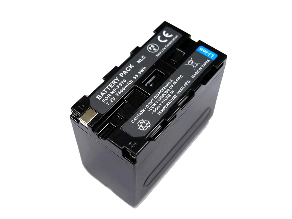 新品 SONY ソニー NP-F950 NP-F960 NP-F970 互換バッテリー 7400mAh 2個 & デュアル USB 急速 互換充電器 バッテリーチャージャー BC-VM10 _画像3