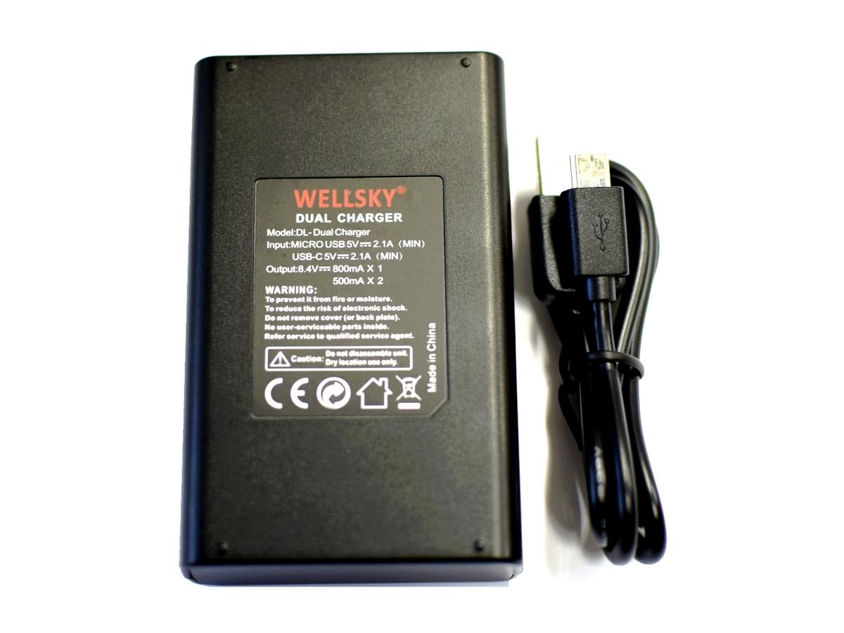 新品 パナソニック DMW-BLC12 用 USB 急速 デュアル 互換充電器 バッテリーチャージャー [ DMW-BTC6 DMW-BTC12 ] LUMIX ルミックス _純正・互換バッテリーに充電可能